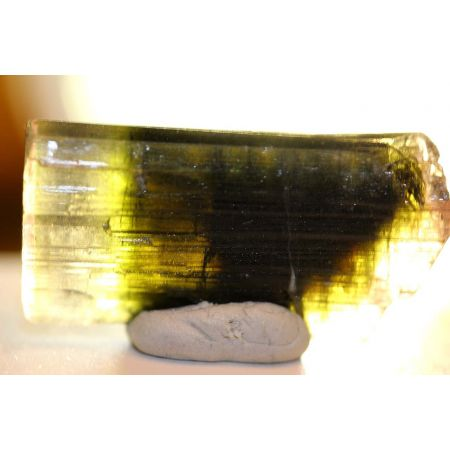 tricolor Turmalinkristall-Doppelender