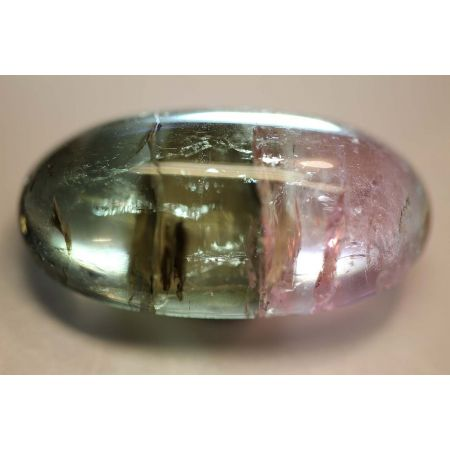 bicolor Turmalin, Cabochon, oval