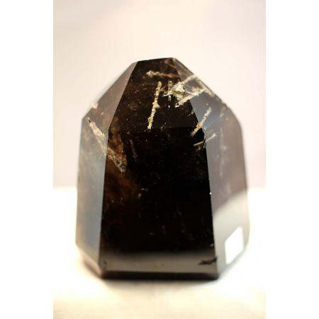 Morion-Rauchquarz+Rutil+Rainbow-Energiekristall