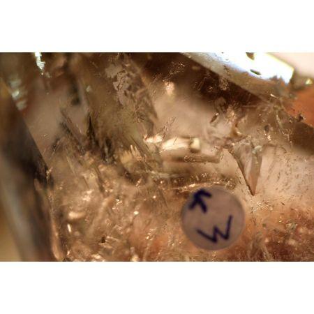 Rauchquarzzepter+Urwasser-Energiekristall