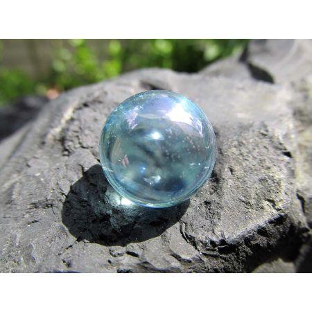 Aqua Aura Bergkristall Kugel, Energie-Kristall