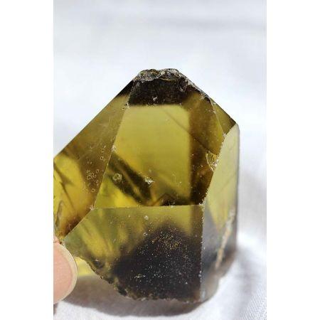 Grünes Gold+Rauchphantome-Energiekristall(female)