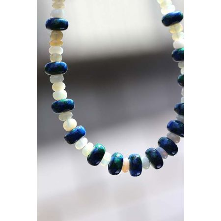 Azur.-Malachit/Opal-Kette