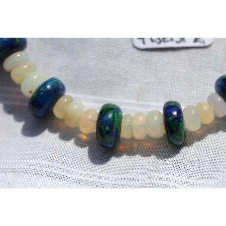 Azur.-Malachit/Opal-Kristall-Armband