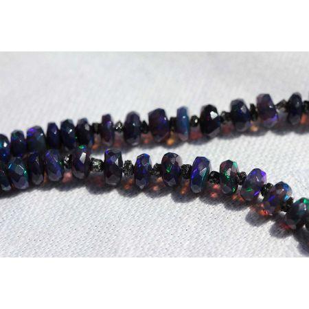 WELO-Opal+Black Diamonds-Energie-Kette