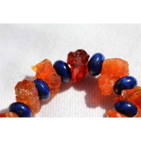 Feueropale+Lapis Lazuli-Energie-Kette
