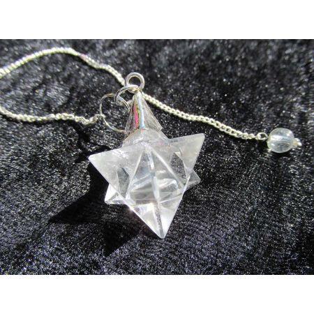 Bergkristall - Merkaba Pendel