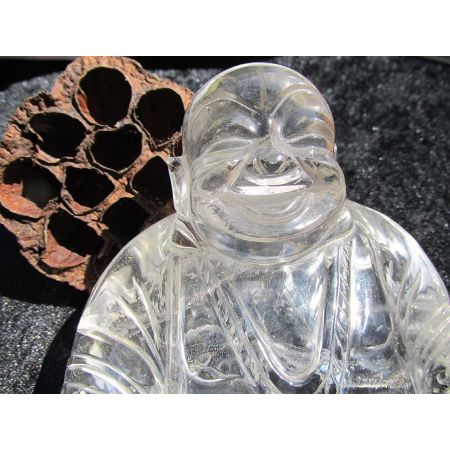 Bergkristall - Energie- Buddha