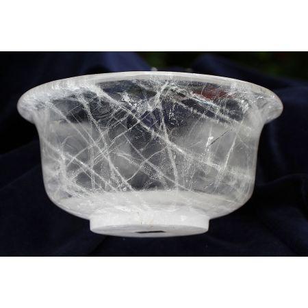 Bergkristall - Schale, geschwungen