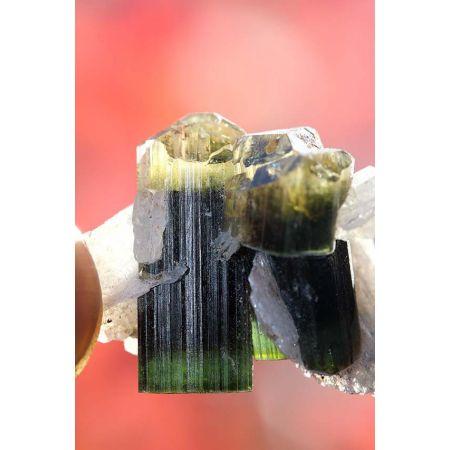Elbait 3x Kristall Doppelender mit Clevelandit