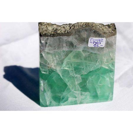 Fluorit + Pyrit - Scheibe