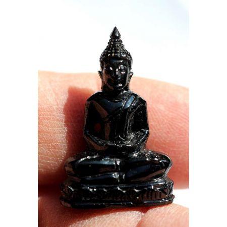 Mini-Schörl-Medizin-Buddha, sitzend