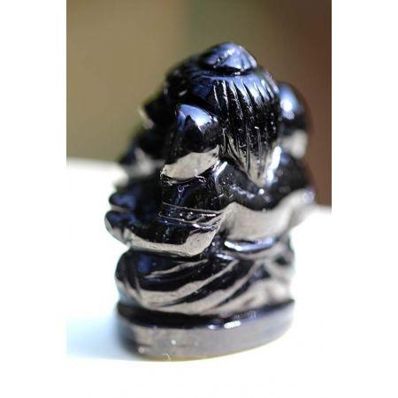 Mini-Schörl-Ganesha-Gravur