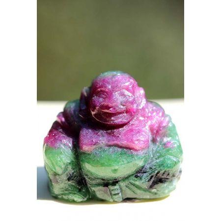 Mini-Rubin/Zoisit-Lucky Buddha-Gravur