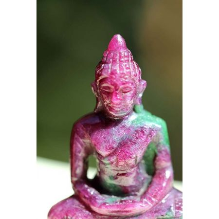 Mini-Rubin/Zoisit-Amitabha (Medizin) Buddha-Gravur