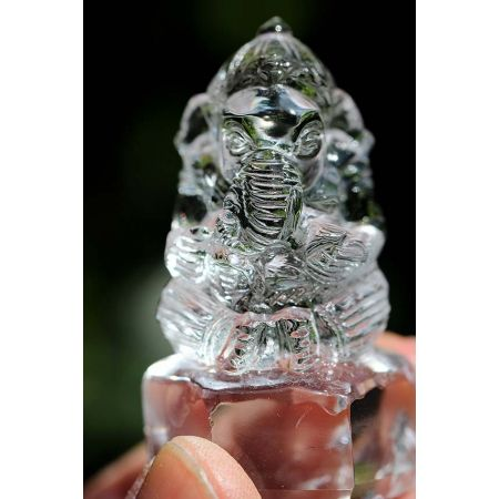 Bergkristall-Ganesha-Gravur