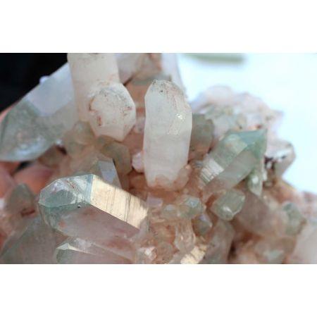 Bergkristall+Fuchsitphantome-Energie-Stufe