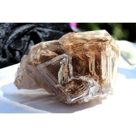 Bergkristall + Rauchquarz + Elestial, Chronikhüter-Energiekristall