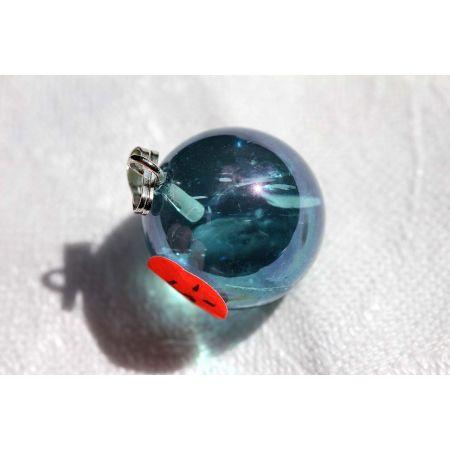 Aqua-Aura-Energiekristallkugel mit Öse