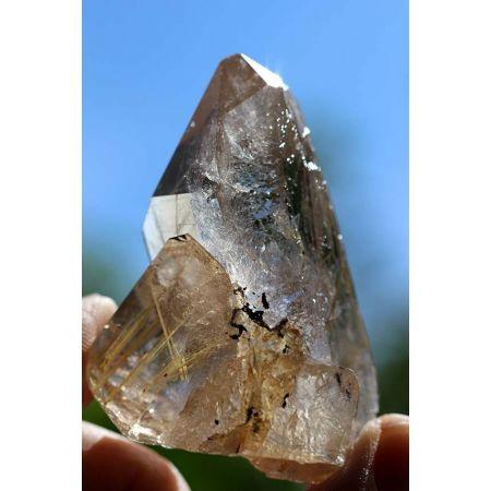 Citrin+Gold-Rutil-Energiekristall