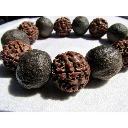 Moqui Marbles+Rudrakshas - Energie-Armband