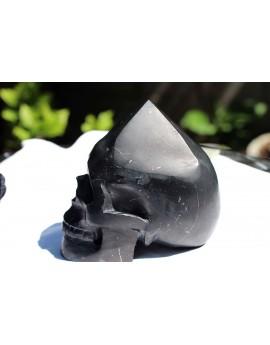 Shungit-Energie-Pyramidenschädel