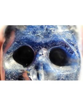 Saphir, blau-Energie-Schädel