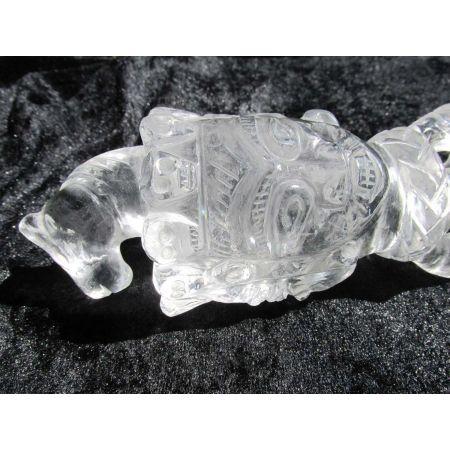 Bergkristall-Energie-Phurba (ind. Ritualdolch)