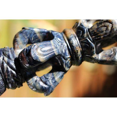 Saphir, blau-Energie-Phurba (ind. Ritualdolch)