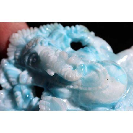 Larimar-Energie-Ganesha, liegend