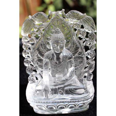 Bergkristall-Energie-Buddha