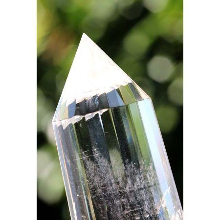 Bergkristall/Lemuria-24 Facetten-Vogel - Energie-Engelsstab