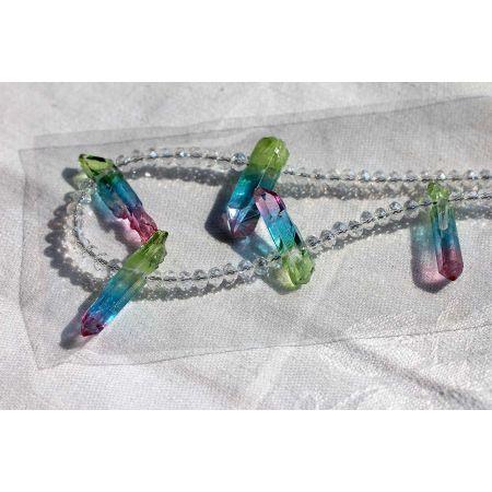 Herkimer+Aqua Rainbow-Energie-Kette