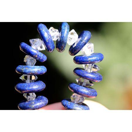 Herkimer + Lapis Lazuli-Energie-Armband