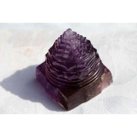Lotus-Amethrin-Shree Yantra-Energie-Kristall