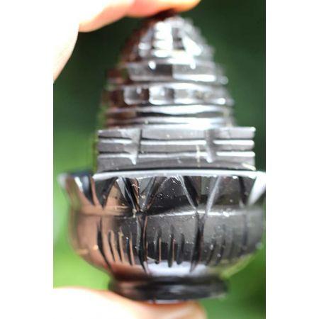 Lotus-Shungit-Energie Shree Yantra Kristall