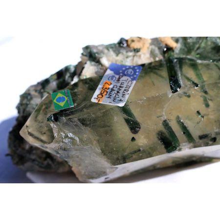 Citrin-Verdelith-Doppelender-Energie-Kristall (höchste Erleuchtung,Hoffnung-Stärke)