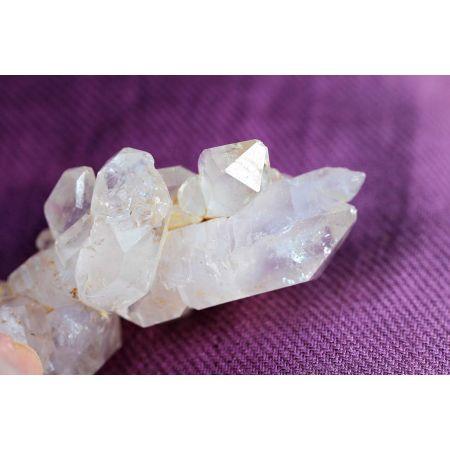 Bergkristall mehrfach Doppelender DOE - Energiekristallstufe (Schlüssel zur Weisheit)