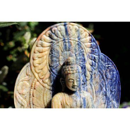 Bergkristall-Energie-Medizin-Buddha