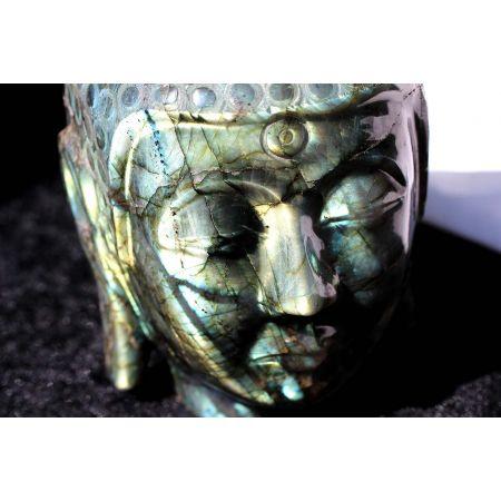 Labradorit-Energie- Buddhakopf