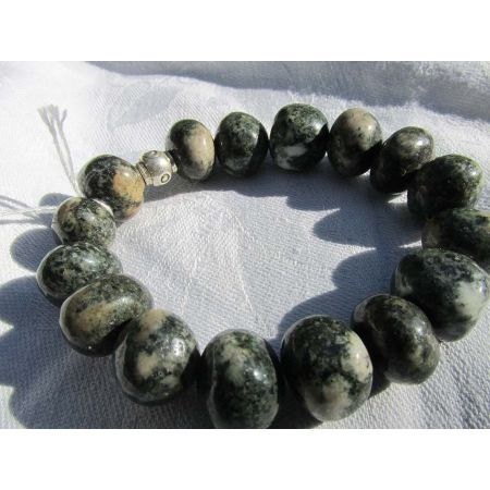 Greenstone-Stonehenge-Energie-Armband  (Zeremonienstein)