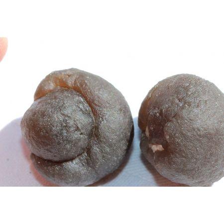 Black-Achat-Marbles-Paar, Lebende Energie Steine
