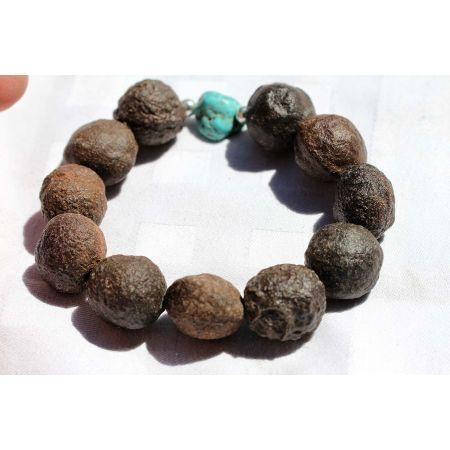 Moqui-Marbles + Türkis-Armband / Lebende Energiesteine (Energiebringer)
