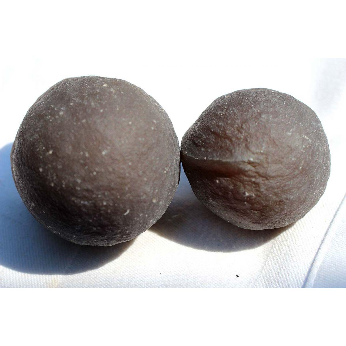 Black-Achat-Marbles-Paar, Lebende Energie Steine (spirituelles Wachstum)