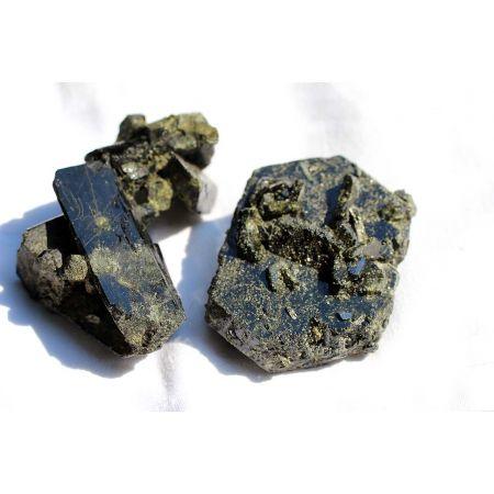 Dragonstones-Epidot-Magnetit-Schamanen-Energie-Kristalle (hochenergetisches-Paar) (Transformationsenergie)