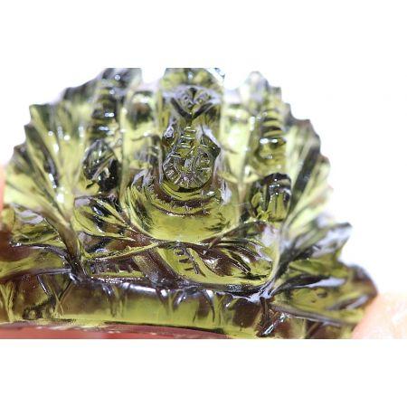 Moldavit-Gravur, Ganesha