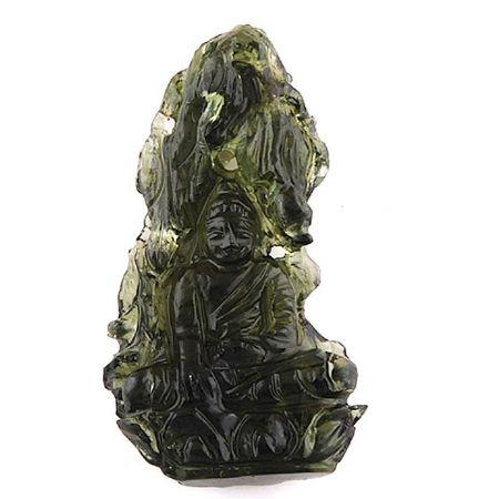 Moldavit-Gravur, Buddha