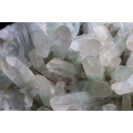 Bergkristall-Fuchsit-Stufe