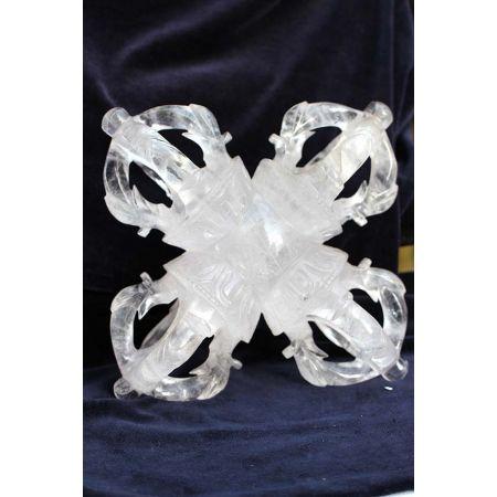 Bergkristall-Doppeldorje